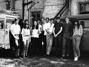 Volunteers at Haughley Research Farms in 1968