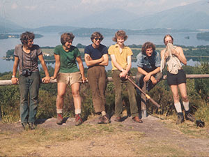 Volunteers at Loch Lomond in July 1975
