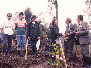 Launch of BTCV's Million Tree Campaign, Pigdown Wood in 1988
