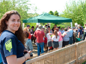 People at the allotment event