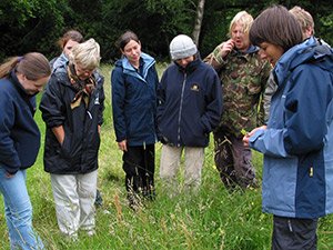 People learning about habitat management