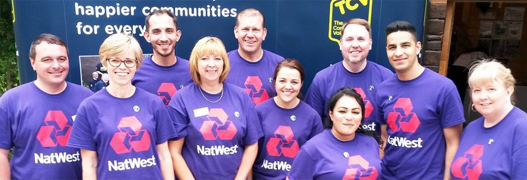 Staff from NatWest volunteering with TCV