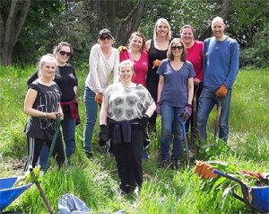 A group of volunteers from NatWest