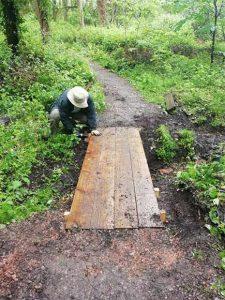 Repairing paths in Lousehill Copse