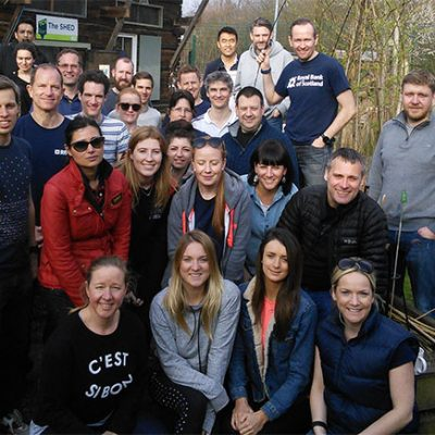 RBS staff at an employee volunteering event with TCV