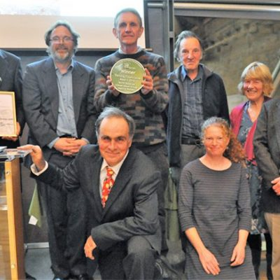 Volunteers collect their award (Photo - CPRE)