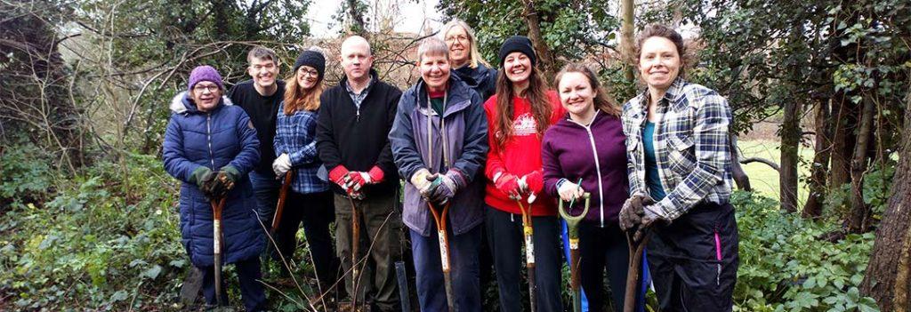 Volunteers at Netherwood Green Woods