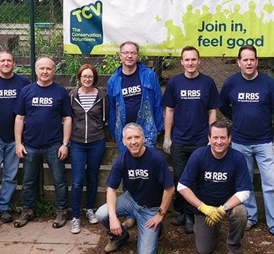 RBS volunteers with TCV in Selly Oak