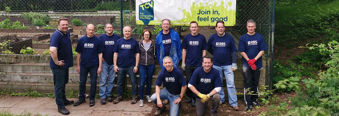 RBS volunteers with TCV in Selly Oak