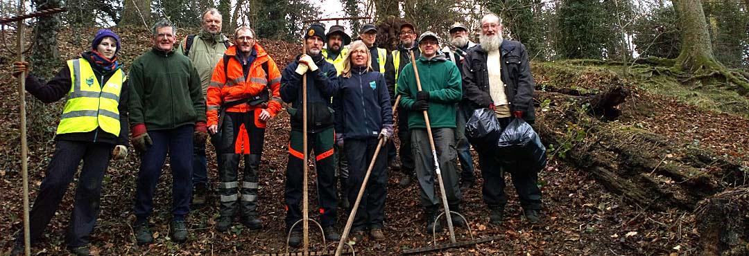 Volunteers at West Earlham Wood