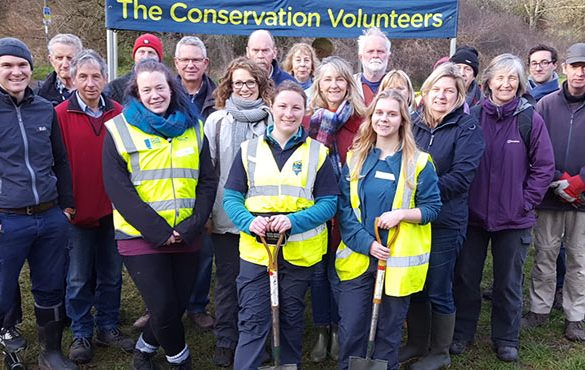 TCV's woodland improvement team in Reading