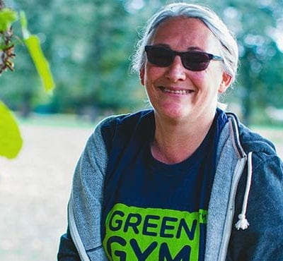 Woman attending a Green Gym with TCV