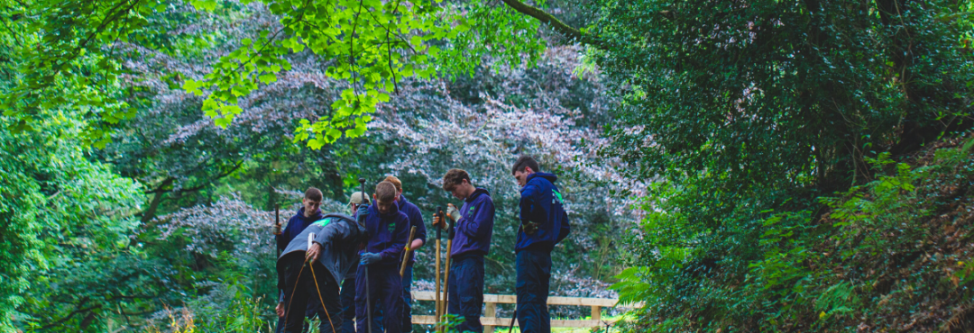 Group of conservation volunteers