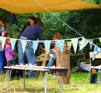 People attending an open day at Skeltion Grange Environment Centre