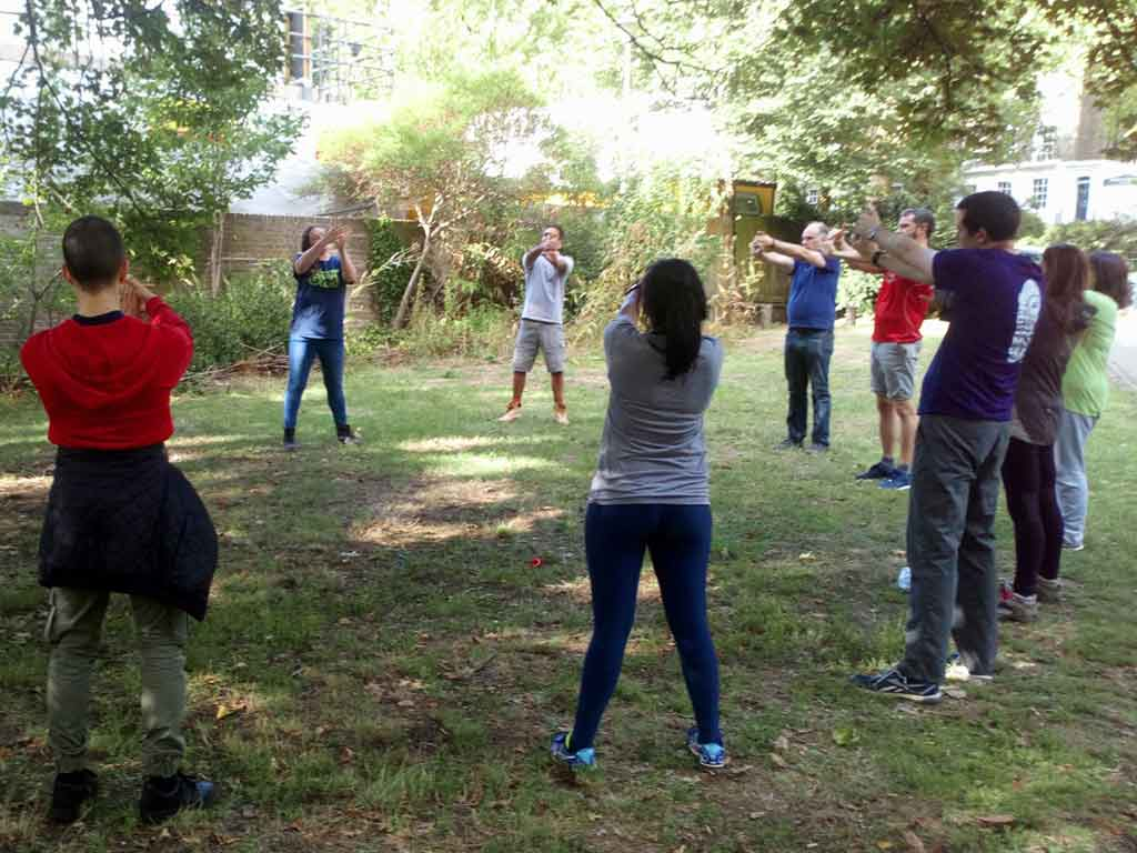 Warm up exercises with Camden Green Gym