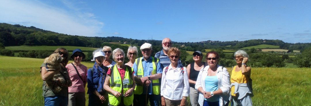 Group of walkers on Health Walk