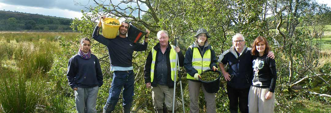 A team from TCV's tree nursery in Northern Ireland