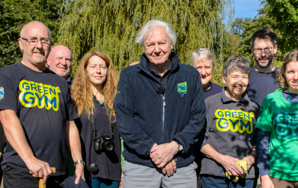 Sir David Attenborough's 90th birthday celebration with TCV, October 2016, Waterlow Park, London