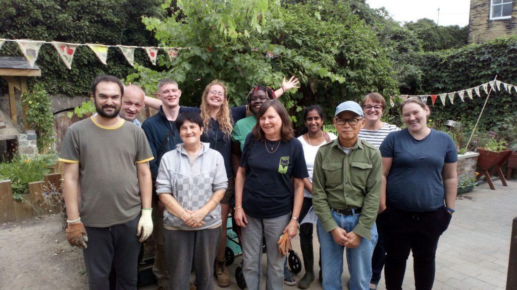Group of volunteers at TCV Hollybush