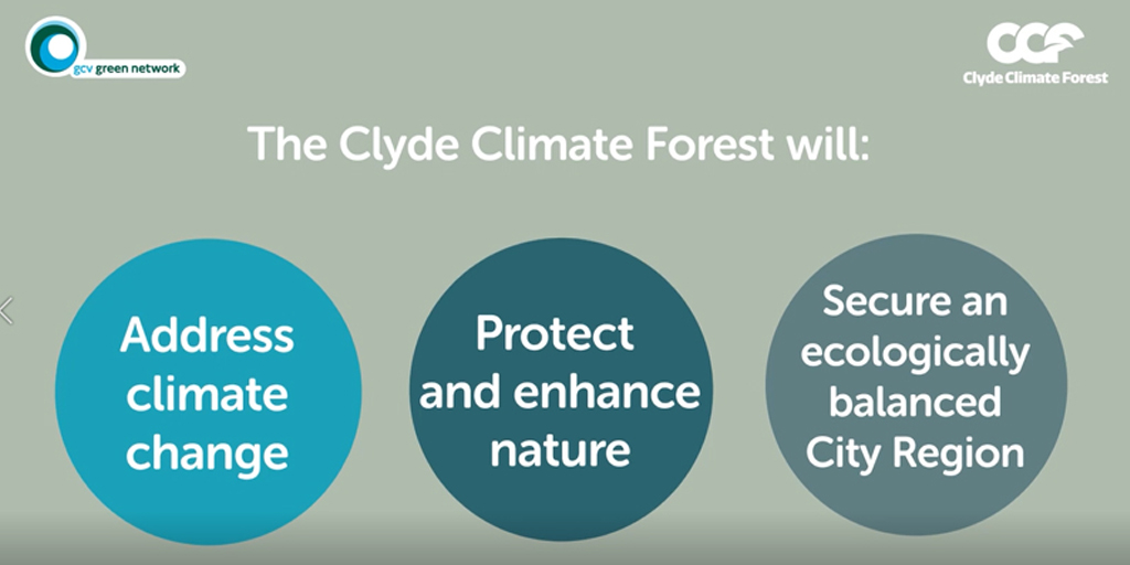 The Clyde Climate Forest will: Address climate change Protect and enhance nature Secure an ecologically balanced City Region